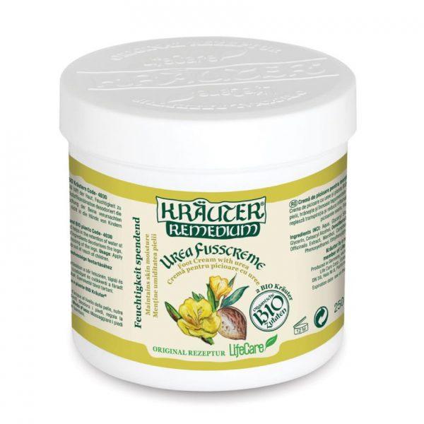 Crema da piedi per mantenere l'umidità della pelle, con urea ed erbe BIO
